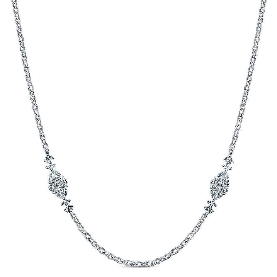 Gabriel & Co. Infinite Gems Collection Silver By The Yard Necklace
