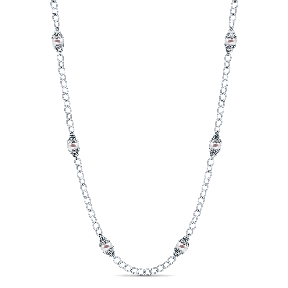 Gabriel & Co. Infinite Gems Collection Pearl Necklace