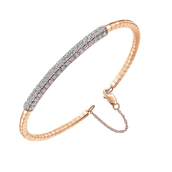 Gabriel & Co. 14k Yellow Gold Diamond Bangle