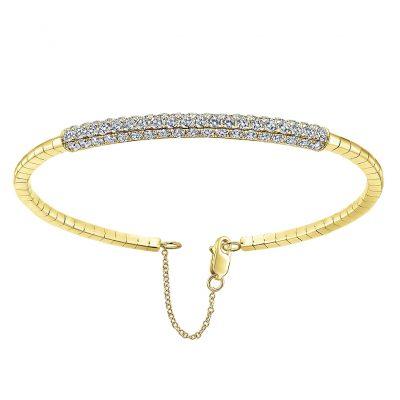 Gabriel & Co. 14k Yellow Gold Diamond Bangle
