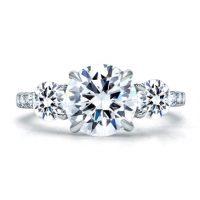 A. Jaffe ME1854Q 1.08ctw Three Stone Diamond Engagement Ring Setting