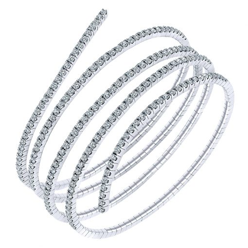 Gabriel & Co. 14k White Gold Diamond Bangle
