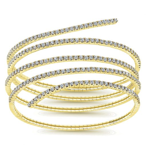 Gabriel & Co. 14k White Gold Diamond Bangle
