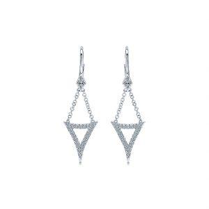 Gabriel & Co. Kaslique 14k Gold Diamond Drop Earrings