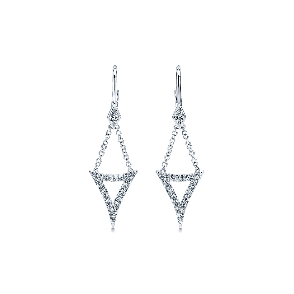 Gabriel & Co. Kaslique 14k Gold Diamond Drop Earrings