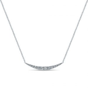 Gabriel & Co. 14k White Gold Diamond Bar Necklace