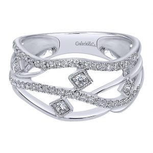 Gabriel & Co. 14k White Gold Diamond Ring