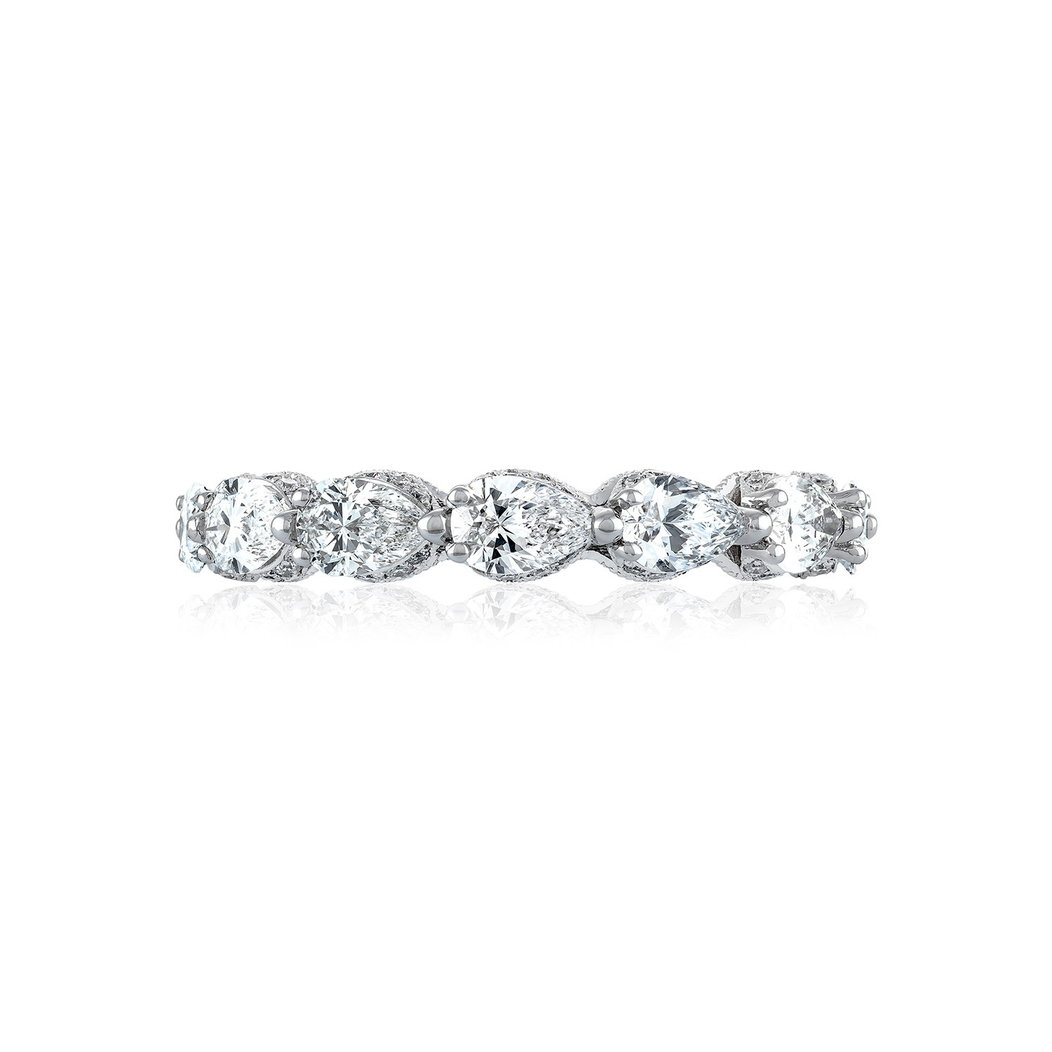 tacori wedding bands tacori wedding band Tacori RoyalT HT Pear Shape Diamond Wedding Band