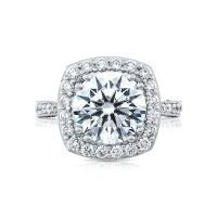 Tacori RoyalT HT2650CU10 Bloom Diamond Engagement Ring