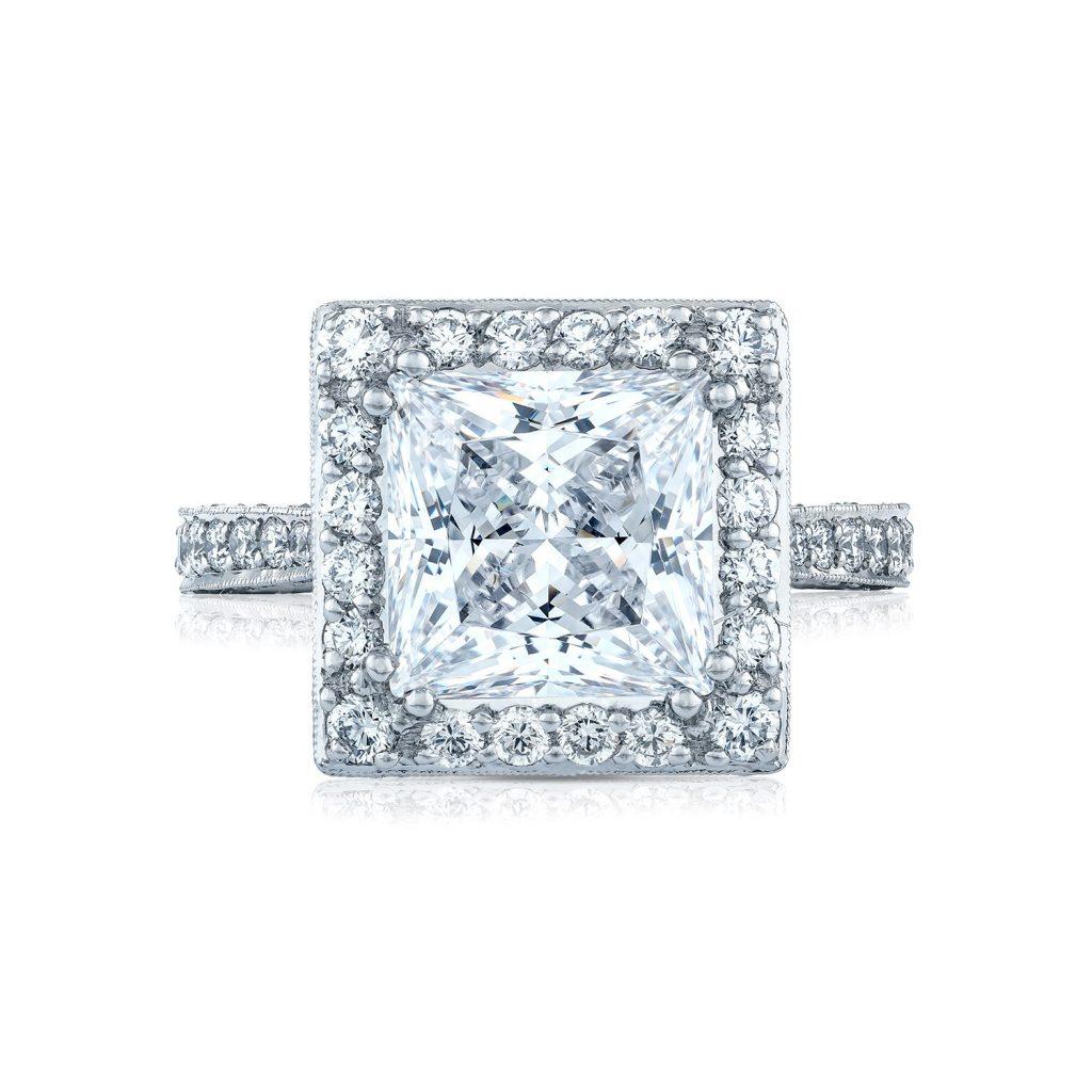 tacori engagement rings royalt princess cut setting 98ctw