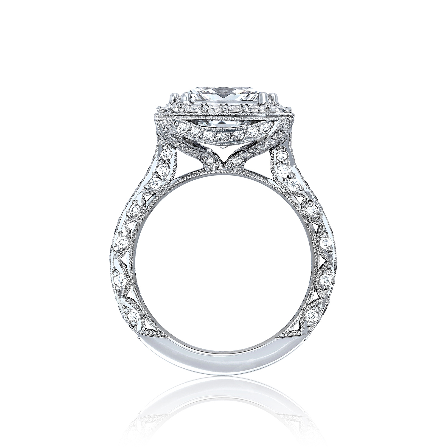 Tacori Engagement Rings Royalt Princess Cut Setting 98ctw
