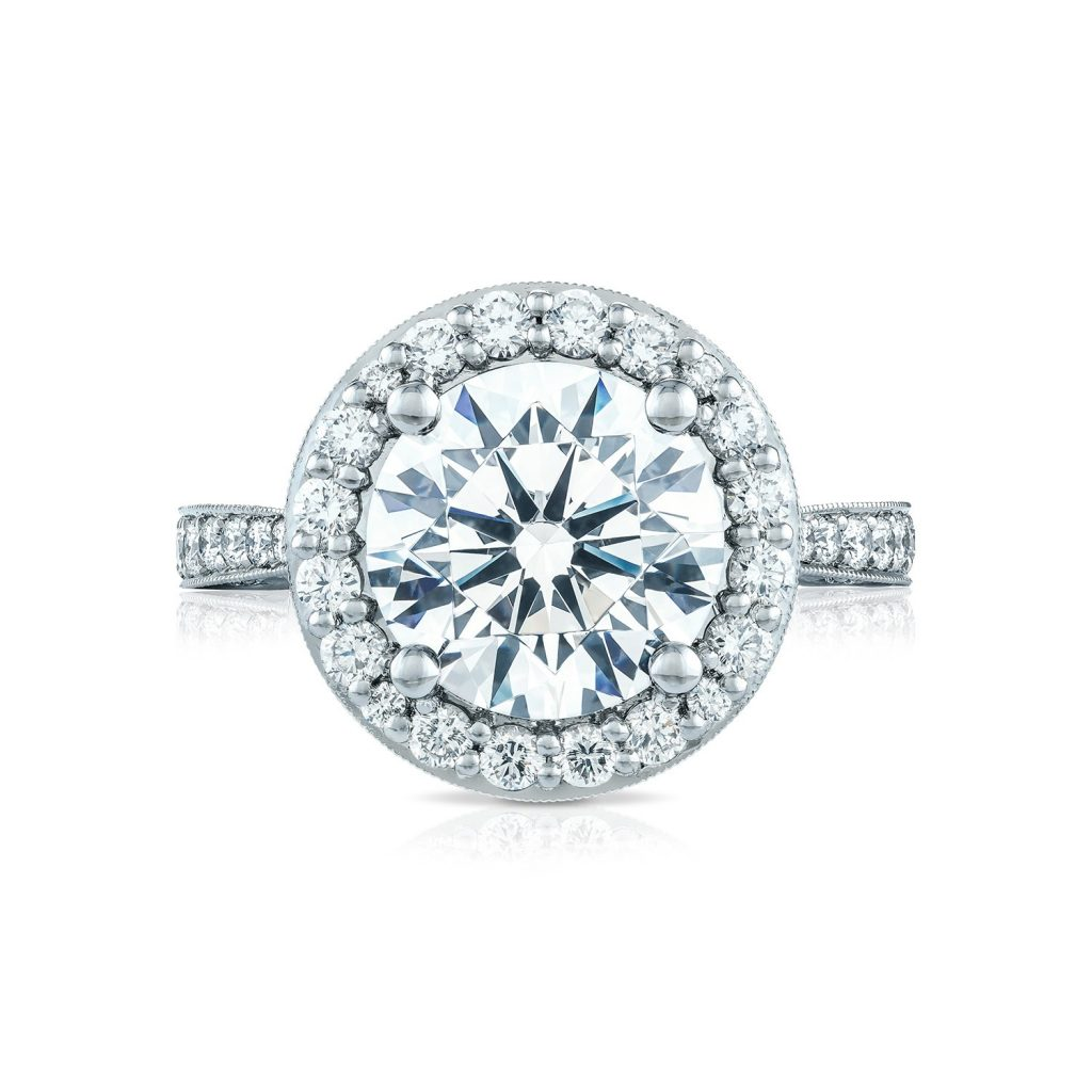 Tacori Engagement Rings RoyalT Bloom Diamond 98ctw Setting
