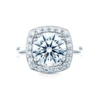 Tacori RoyalT Collection HT2651CU10 Bloom Diamond Engagement Ring
