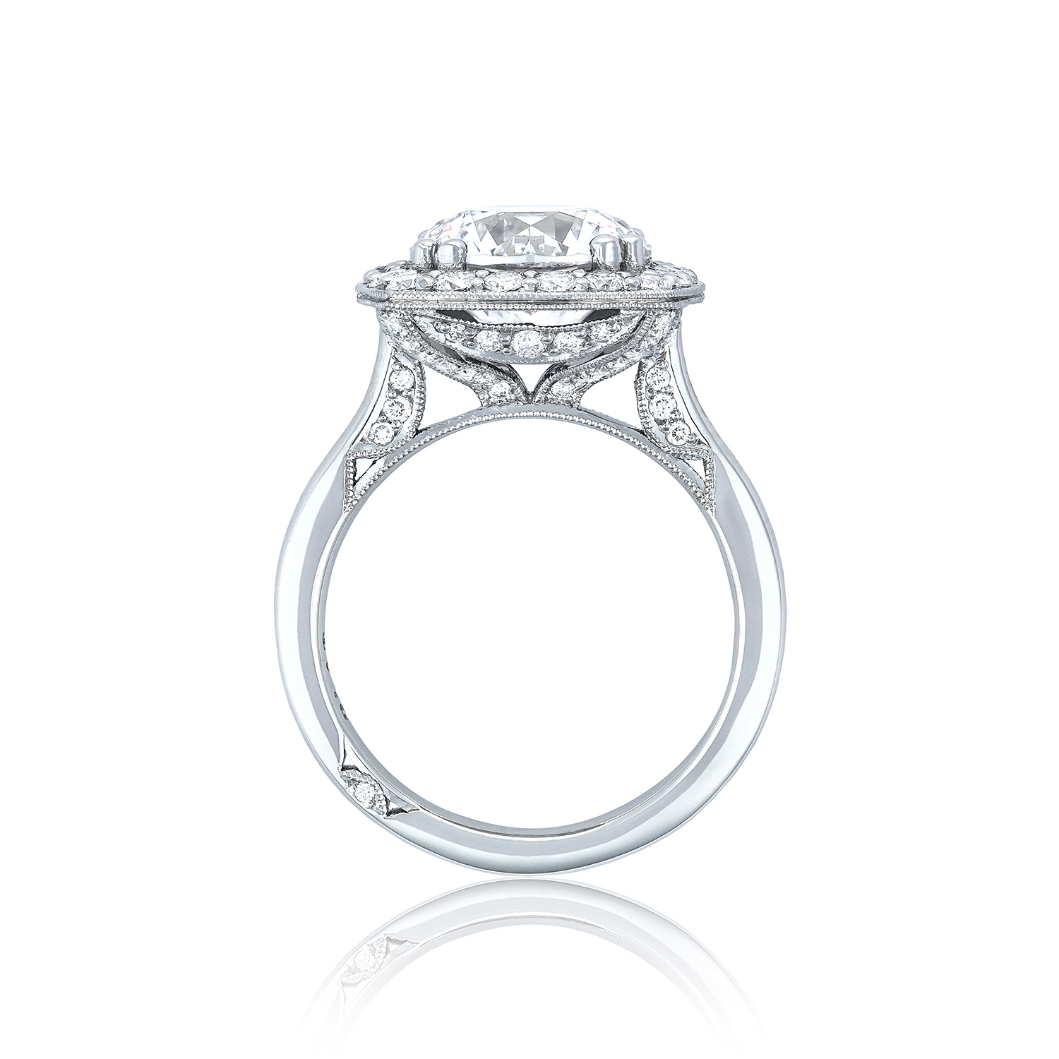 Tacori royalt ht2651cu10 bloom diamond engagement ring for Wedding rings tacori