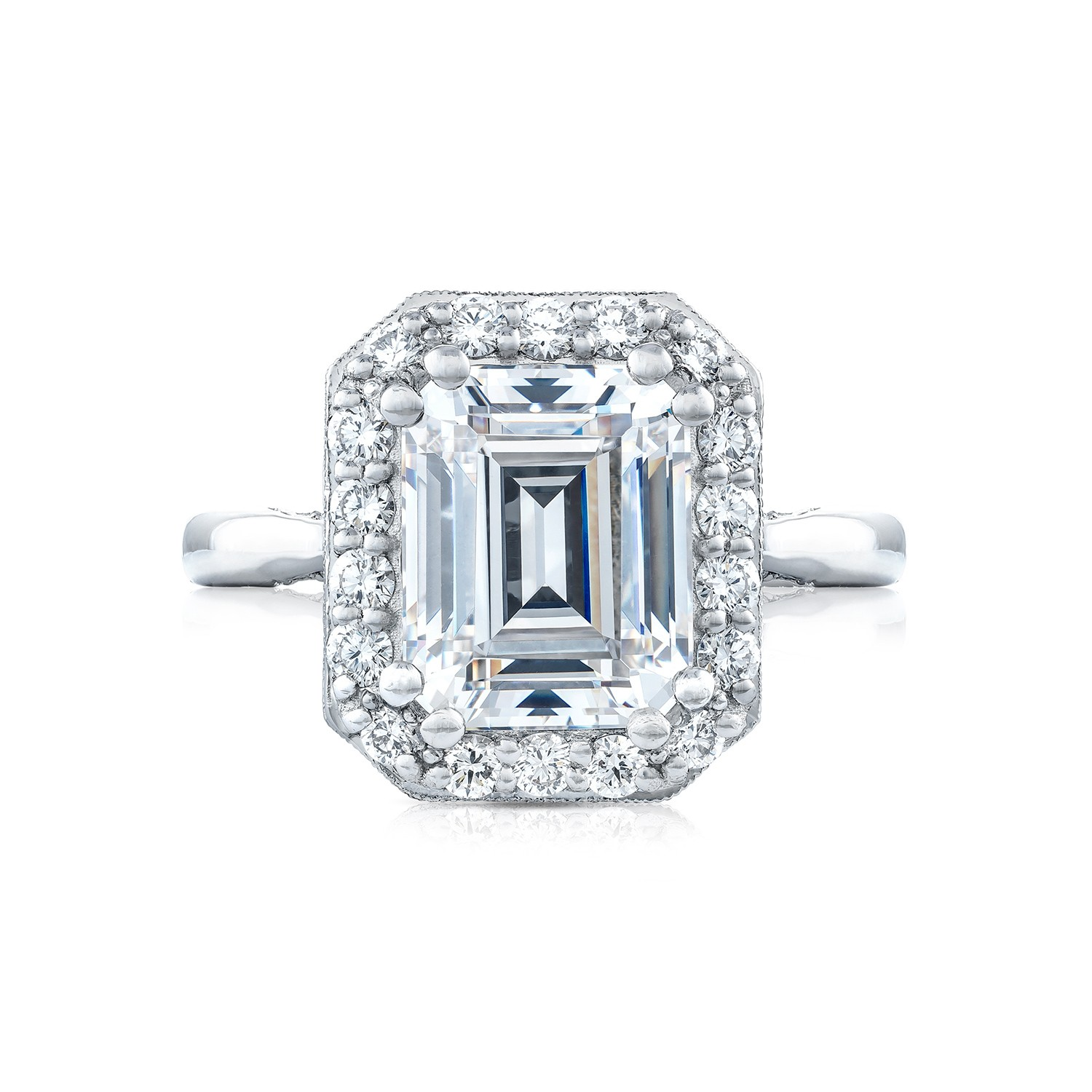 tacori engagement rings royalt 51ctw emerald cut setting