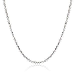18k White Gold 14.68ctw Diamond Long Tennis Necklace