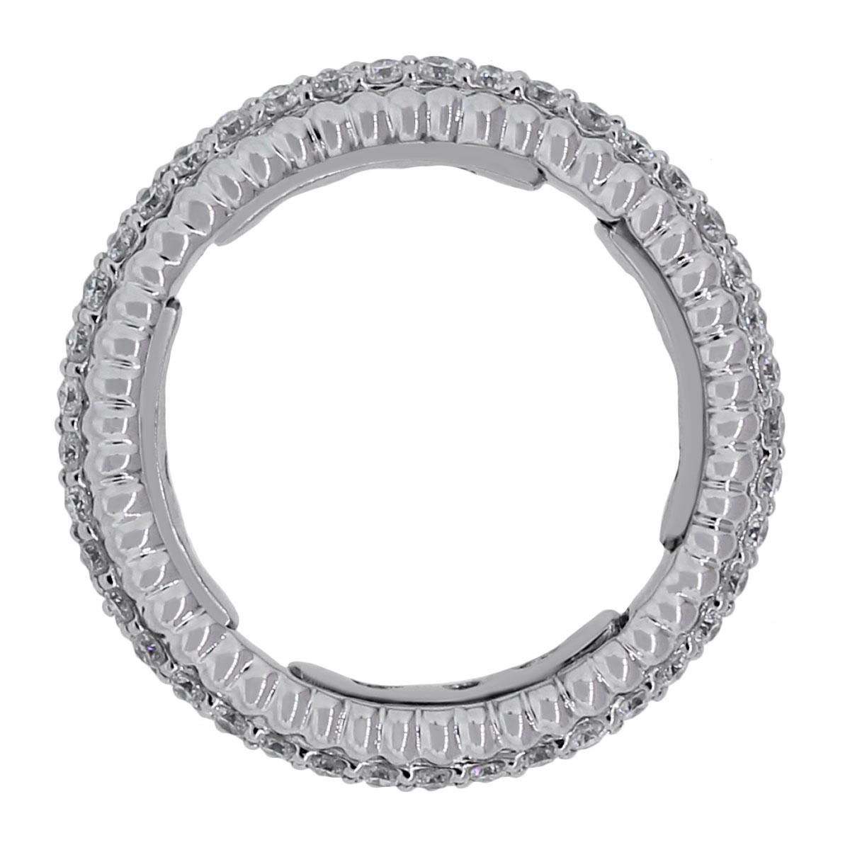 14k white gold 1 25ctw pave diamond flexible wedding band white wedding band 14k white gold diamond wedding band