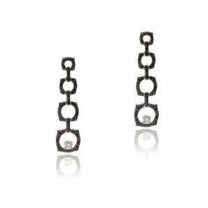 14k White Gold 2.97ctw Diamond Earrings