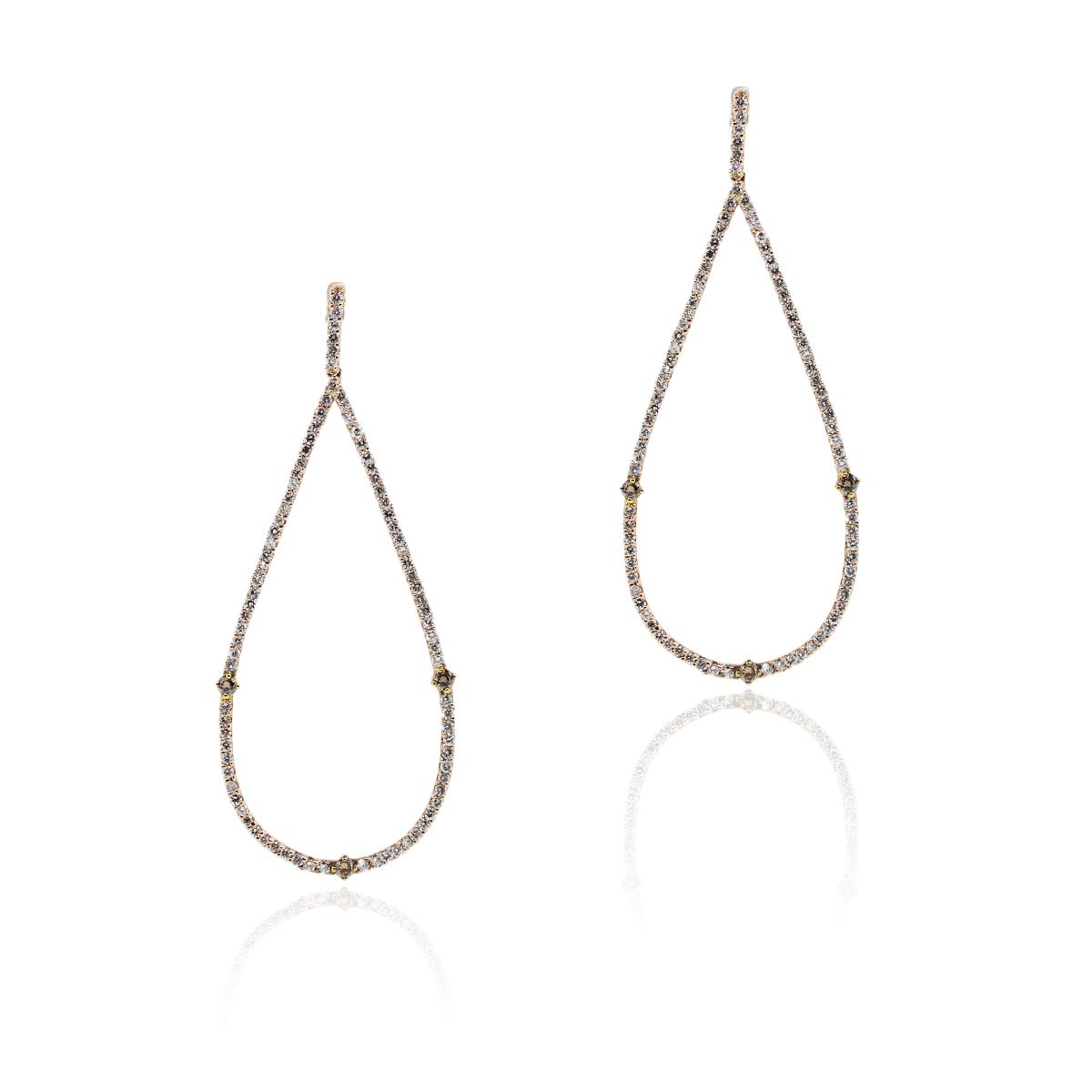 14k Rose Gold 1.95ctw Diamond Earrings