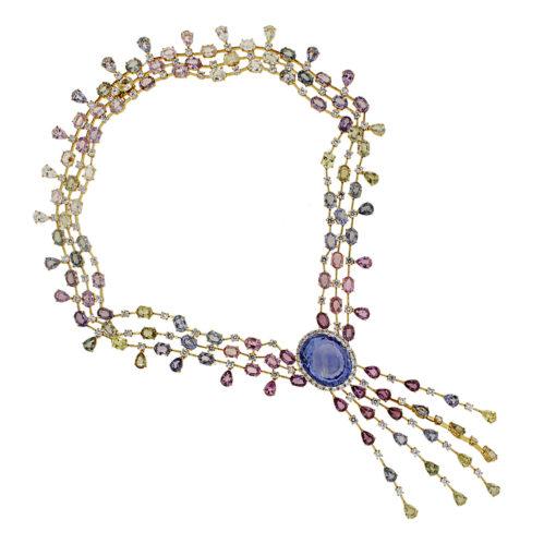 Diamond Sapphire necklace