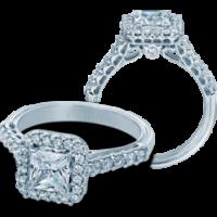 Verragio Classic-903P5.5 Diamond Engagement Setting & 0.55ct Emerald Diamond