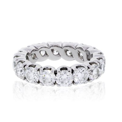 14k White Gold 6ctw Round Brilliant Diamond Eternity Band