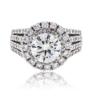 18k White Gold 2.51ct EGL Certified Diamond Engagement Ring