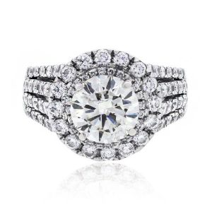 18k White Gold 2.51ct EGL Certified Diamond Engagement Ring