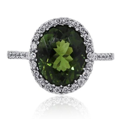 Diamond tourmaline ring