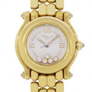 Chopard yellow gold watch