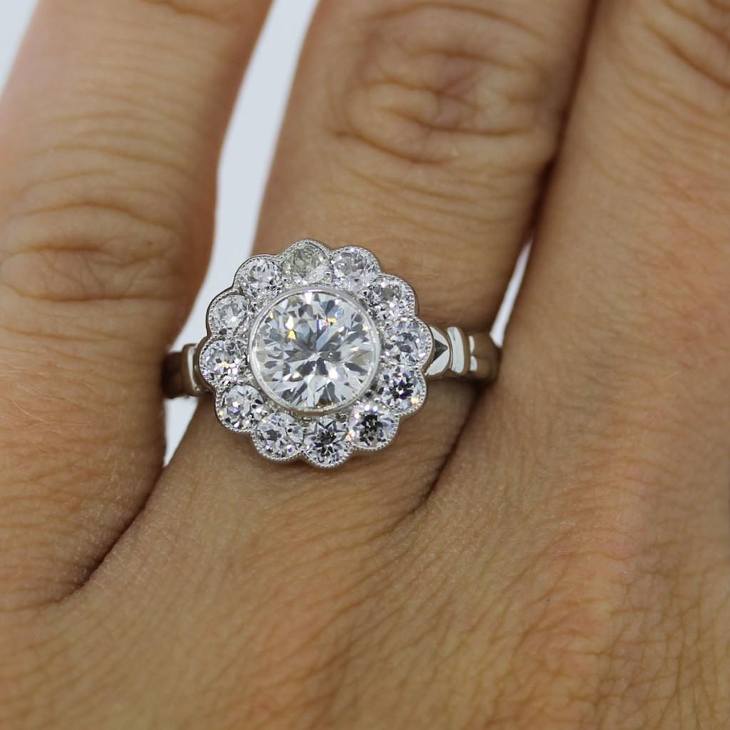 Wedding Flowers And Rings: Engagement Rings Boca Raton Platinum 1.15ct Old European