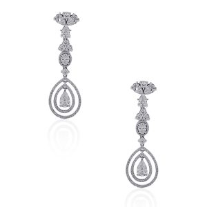 GIA Certified diamond earrings