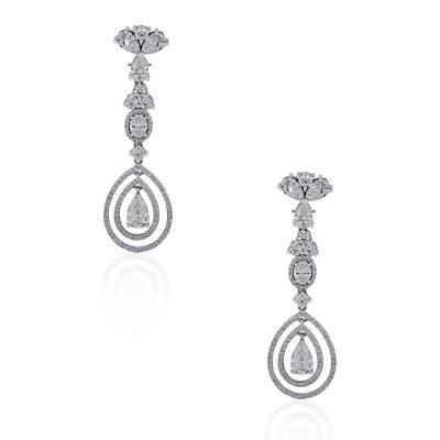 GIA Certified diamond earrings