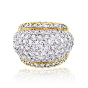 14k Yellow Gold 2.58ctw Round Brilliant Diamond Pave Ring