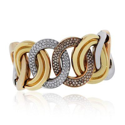 wide diamond bracelet