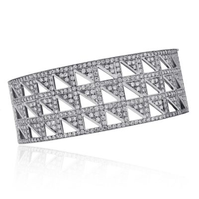 7ctw diamond bangle bracelet