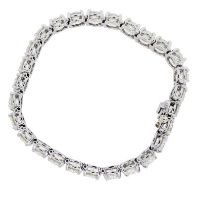 Platinum 19.54ctw Round Brilliant Diamond Tennis Bracelet