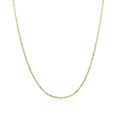 "14k Yellow Gold 24"" Rope Chain Necklace"