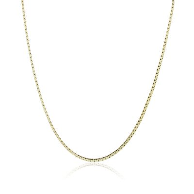 """14k Yellow Gold 16"""" Flat Link Chain Necklace"""
