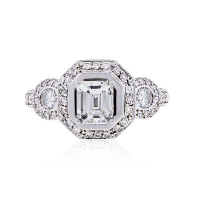 18k White Gold 2.53ctw GIA Certified Diamond Engagement Ring