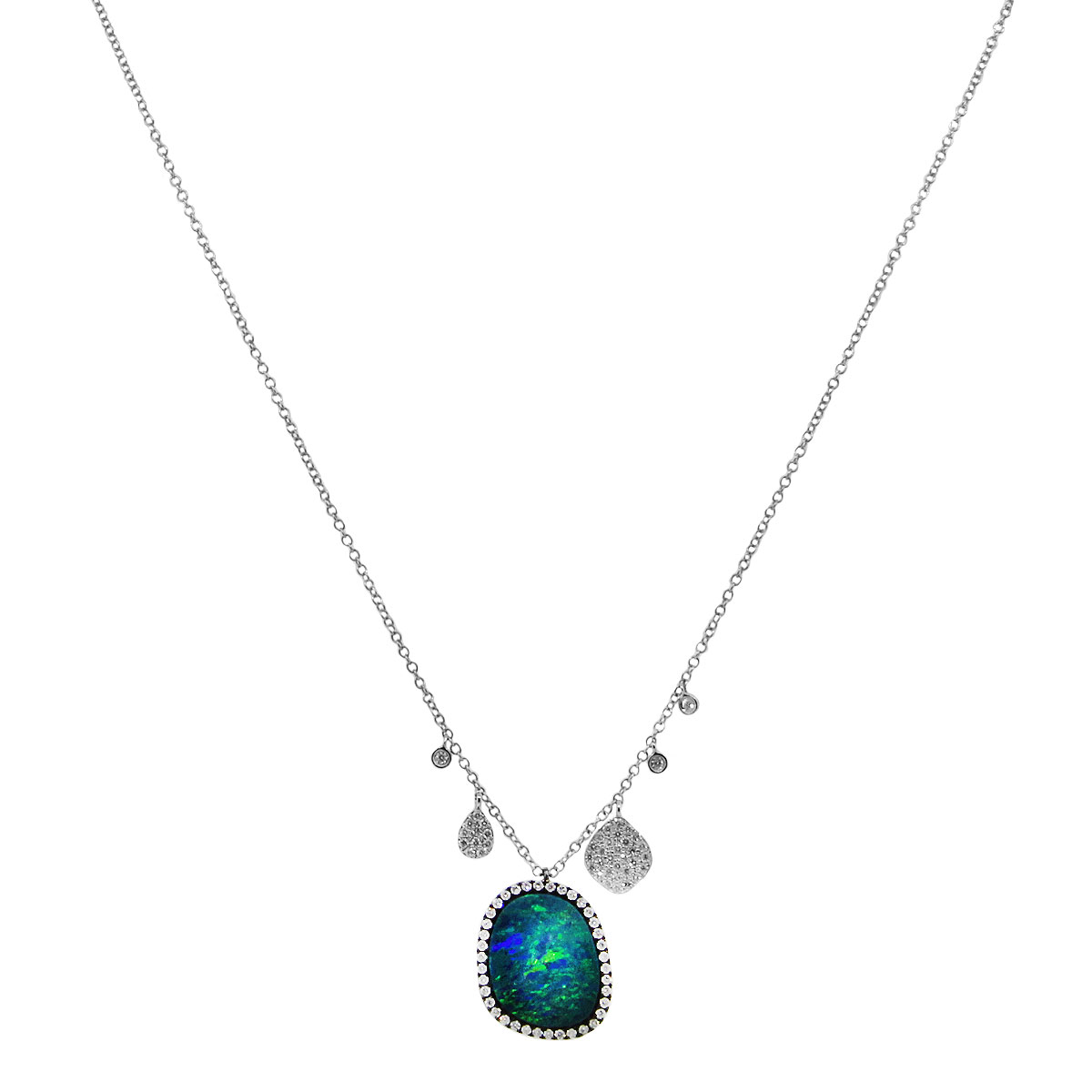 Meira T Opal Diamond necklace