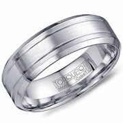Crown ring CB-2199 White Cobalt 7mm Wedding Band