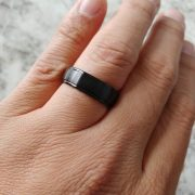 Crown ring CBB-7137 Black Cobalt 7mm Wedding Band