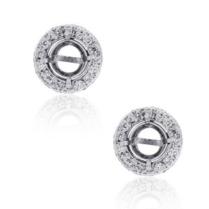 white gold earring jackets