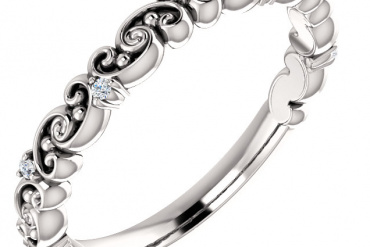 14k White Gold 0.04ctw Diamond Anniversary Band
