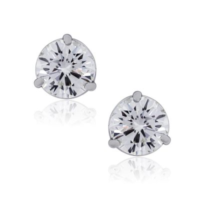 14k White Gold 2.50ctw Round Brilliant Diamond Stud Earrings