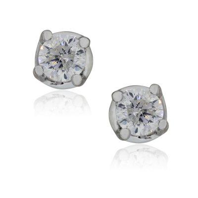 14k White Gold 0.70ctw Diamond Stud Earrings