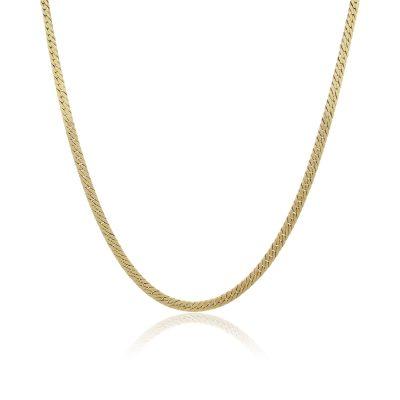 14k Yellow Gold 19″ Herringbone Gents Necklace