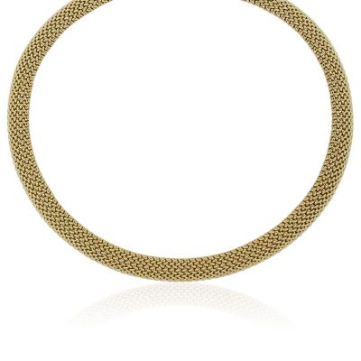 """14k Yellow Gold 18"""" Mesh Necklace"""