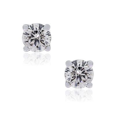 14k White Gold 0.47ctw Round Brilliant Diamond Stud Earrings
